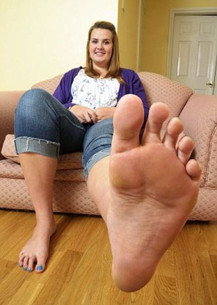 Girl feet on face