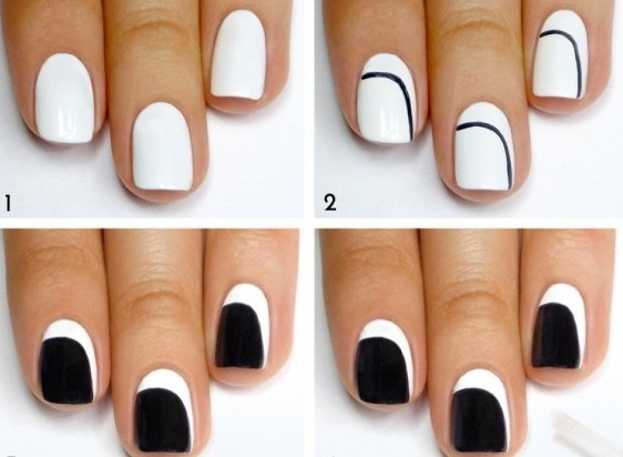 black and white nail design (1)