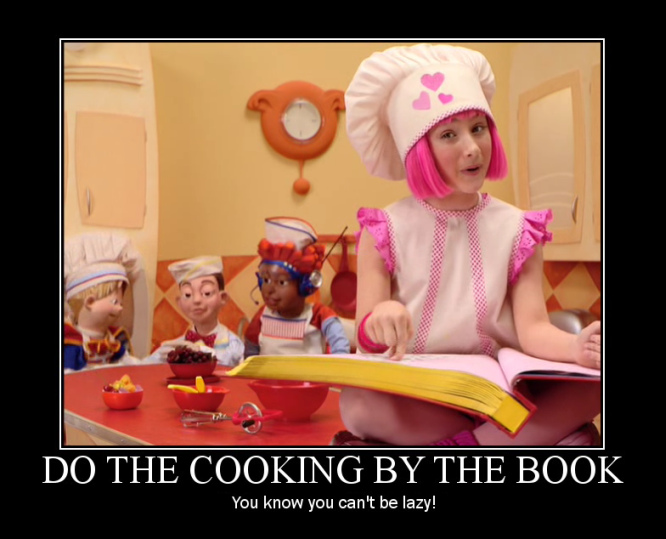 lazytown_cooking_by_the_book_stephanie_bake_a_pretty_cake 25 best of lazy town memes