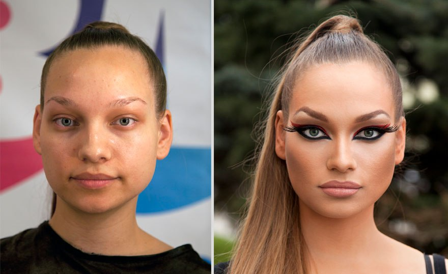 21 Mind Blowing Makeup Transformations : Before and After
