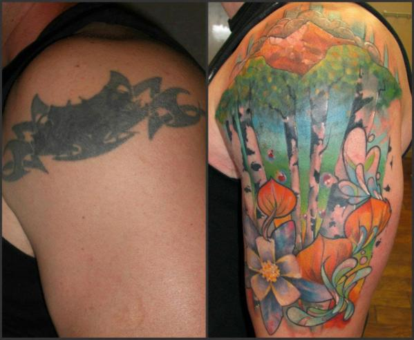 Bad Tattoos Fixed Before After Bad Tattoo Mistakes Fixed