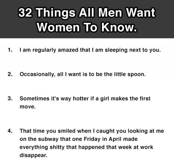 32 things all men want women to know 19 is so true 11 photos
