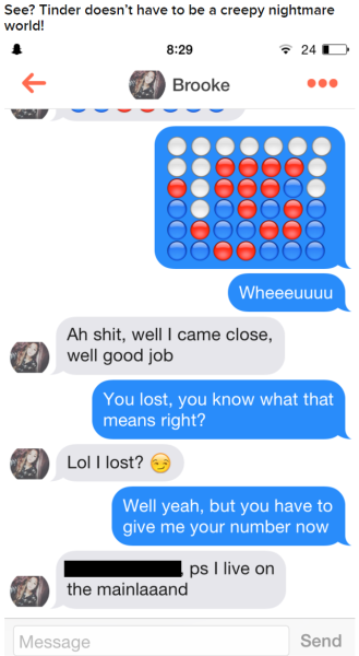 Getting phone number on tinder